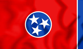 3D Flag of Tennessee, USA. Royalty Free Stock Photography