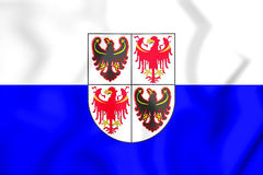 3D Flag of Trentino-Alto Adige, Italy. 3D Illustration Stock Photo
