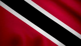 3D Flag of Trinidad and Tobago. Flag of Trinidad and Tobago background.  stock video footage