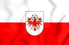 3D Flag of Tyrol, Austria. Royalty Free Stock Photo
