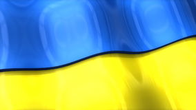 3D flag, Ukraine, waving, ripple, Europe. stock video footage