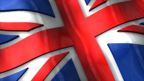 3D flag, United Kingdom, waving, ripple, Europe. stock video footage