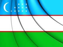 3D Flag of the Uzbekistan. Royalty Free Stock Image