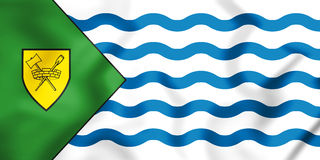 3D Flag of Vancouver city, Canada. 3D Illustration Royalty Free Stock Photography