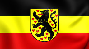 Flag of Weimar City Thuringia, Germany. 3D Flag of Weimar City Thuringia, Germany. Close Up Royalty Free Stock Images