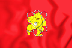 3D Flag of Zheleznogorsk & x28;Krasnoyarsk krai& x29;, Russia. 3D Flag of Zheleznogorsk & x28;Krasnoyarsk krai& x29;, Russia. 3D Illustration Stock Photo
