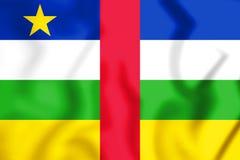 3D flaga Środkowo-afrykański republika ilustracja wektor