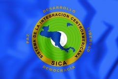3D flaga Środkowo-amerykański integracja system ilustracja wektor