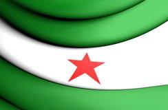 3D flaga Andalusia, Nacion Andaluza flaga ilustracji