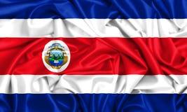 3d flaga Costa rica falowanie w wiatrze ilustracji