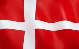 3D flaga Denmark royalty ilustracja