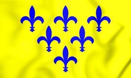 3D flaga Duchy Parma royalty ilustracja