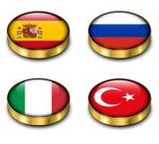 3D flaga guzik Zdjęcia Royalty Free