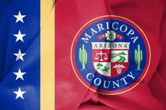 3D flaga Maricopa okręg administracyjny Arizona, usa royalty ilustracja