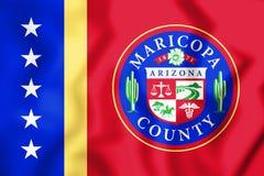 3D flaga Maricopa okręg administracyjny & x28; Arizona& x29; , usa ilustracji