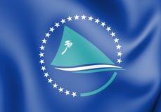 3D flaga Pacyficzna społeczność royalty ilustracja