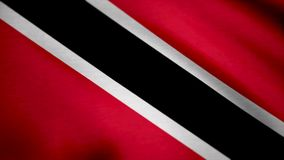 3D flaga Trinidad i Tobago Flaga Trinidad i Tobago tło Fotografia Stock