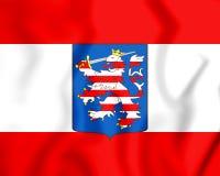 3D flaga Uroczysty Duchy Hesse Rhine i ilustracja wektor