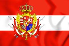 3D flaga Uroczysty Duchy Tuscany ilustracja wektor