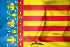 3D flaga Valencian społeczność, Hiszpania ilustracji