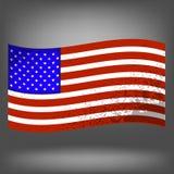 3d flagga USA Royaltyfria Bilder