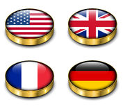 3D flags button Stock Images