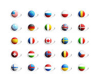 3D Flags icons Royalty Free Stock Photo