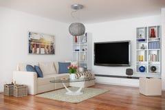 3d - flat van de luxe de moderne zolder - geschotene 43 Royalty-vrije Stock Foto's