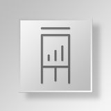 3D  flipchart Button Icon Concept Royalty Free Stock Image