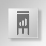 3D  flipchart Button Icon Concept Stock Images