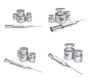 3D Flo and syringe icon. 3D Icon Design Series. Royalty Free Stock Images