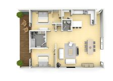 3d floorplan from above birds eye view royalty free stock photography