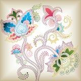 D floral abstrato Imagens de Stock Royalty Free