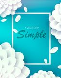 3d floral white background. vector illustration. 3d floral background. Sold sign. colorful. isolated on white background. vector illustration Royalty Free Stock Image