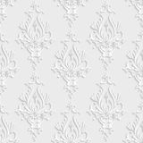 3d Floral Damask Seamless Pattern stock images