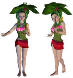 3D Floral Fairy. Digitally rendered image of a cute floral fairy on white background Royalty Free Stock Image