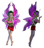 3D Floral Fairy. Digitally rendered image of a cute floral fairy on white background Royalty Free Stock Photo