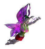 3D Floral Fairy. Digitally rendered image of a cute floral fairy on white background Stock Photo