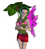 3D Floral Fairy. Digitally rendered image of a cute floral fairy on white background Royalty Free Stock Photography