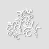 3d-floral_016Vector 3d纸花 免版税库存照片