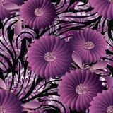 3d florece el modelo inconsútil Papel pintado floral del fondo del vector Foto de archivo