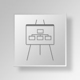 3D  Flow Chart Button Icon Concept Royalty Free Stock Photos