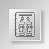 3D  Flow Chart Button Icon Concept Royalty Free Stock Photo
