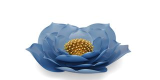 3D flower isolated on white background 3D illustration. 3D flower isolated on white background 3D illustration vector illustration