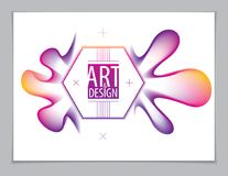 3d flower shape gradient color shape, vector abstract art elemen. T. Perfect for gift card, cover, poster or brochure. Bright color wave dimensional object Stock Image