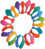 3d Flower shape logo. Colourful abstract 3d flower shape logo Stock Images