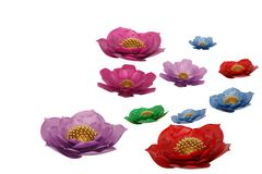 3D flowers isolated on white background 3D illustration. 3D flowers isolated on white background 3D illustration vector illustration
