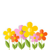 3d flowers isolated on white. Vector EPS 10. Royalty Free Stock Photo