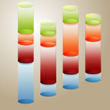 3D Fluid Bar Chart Stock Photo