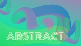 3d fluidu abstrakcjonistyczni kształty Desantowy strona szablon royalty ilustracja